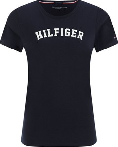 Czarny t-shirt Tommy Hilfiger z bawełny