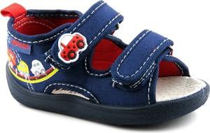 Buty dziecięce letnie American Club z tkaniny dla chłopców na rzepy