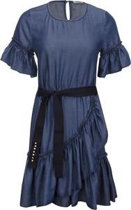 Sukienka Liu-Jo z okrągłym dekoltem mini w stylu casual