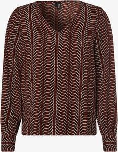 Brązowa bluzka Vero Moda z dekoltem w kształcie litery v