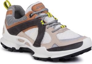 Buty trekkingowe Ecco ze skóry z płaską podeszwą