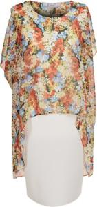 Sukienka Fokus midi z tkaniny z okrągłym dekoltem