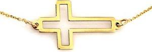 Lovrin Złoty naszyjnik 333 celebrytka ramka krzyża