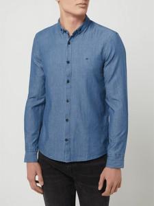 Niebieska koszula Calvin Klein w stylu casual z długim rękawem z bawełny