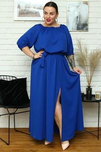 Sukienka KARKO dla puszystych z tkaniny maxi
