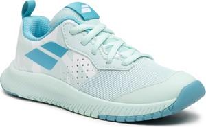 Niebieskie buty sportowe dziecięce Babolat ze skóry