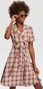 Sukienka Reserved rozkloszowana mini z krótkim rękawem