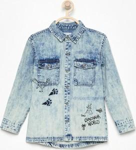 Niebieska koszula dziecięca Reserved z jeansu