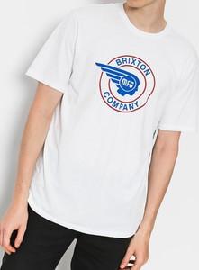 T-shirt Brixton z krótkim rękawem w młodzieżowym stylu z bawełny