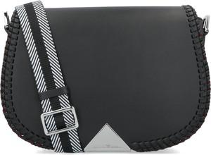 Czarna torebka Emporio Armani ze skóry na ramię