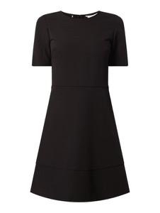 Czarna sukienka Tommy Hilfiger z krótkim rękawem mini w stylu casual