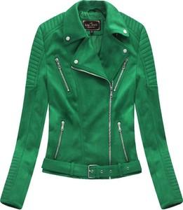 Zielona kurtka Libland krótka ze skóry ekologicznej