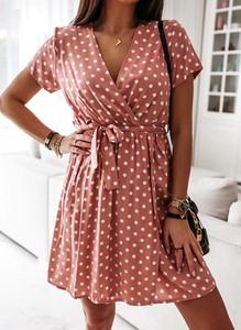 Sukienka Arilook mini z krótkim rękawem w stylu boho