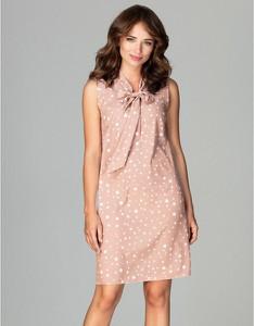 Różowa sukienka LENITIF bez rękawów