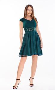 Sukienka Ptakmoda.com rozkloszowana z krótkim rękawem mini
