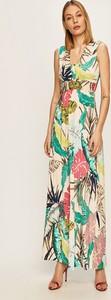 Sukienka Morgan maxi z dzianiny z dekoltem w kształcie litery v