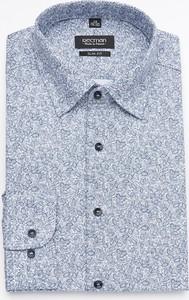 Koszula Recman z długim rękawem z klasycznym kołnierzykiem