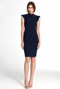 Granatowa sukienka Merg mini bez rękawów
