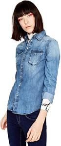 Niebieska koszula Pepe Jeans z długim rękawem w stylu casual