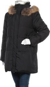 Czarna kurtka Escalier długa w stylu casual
