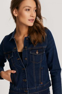 Niebieska kurtka Diverse krótka w stylu casual