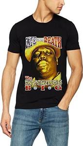 Czarny t-shirt Rockoff Trade z krótkim rękawem