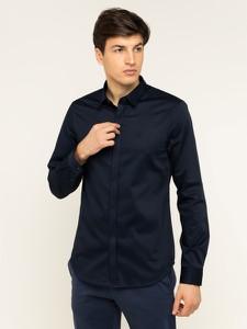 Niebieska koszula Armani Exchange z długim rękawem
