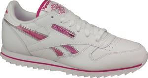 Buty sportowe dziecięce Reebok ze skóry sznurowane
