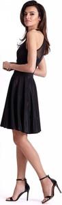 Czarna sukienka Ivon rozkloszowana midi