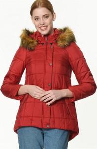 Czerwona kurtka Dewberry krótka w stylu casual
