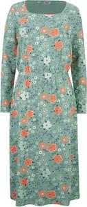 Sukienka bonprix z bawełny z okrągłym dekoltem