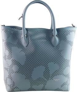 Niebieska torebka Tosca Blu na ramię matowa ze skóry
