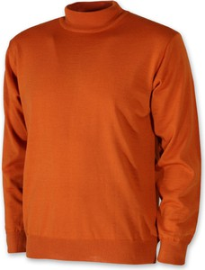 Pomarańczowy sweter Willsoor w stylu casual z golfem
