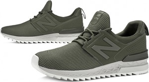 Zielone buty sportowe New Balance 574 w sportowym stylu
