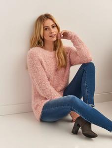 Różowy sweter Top Secret w stylu casual z dzianiny