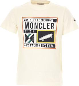 Koszulka dziecięca Moncler z bawełny