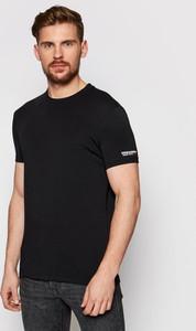Czarny t-shirt Dsquared2 w stylu casual
