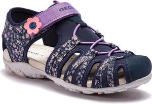 Fioletowe buty dziecięce letnie Geox na rzepy
