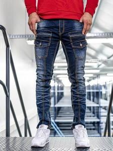 Niebieskie jeansy Denley z bawełny