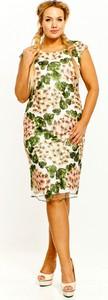 Sukienka Bellezza ołówkowa z okrągłym dekoltem z tkaniny