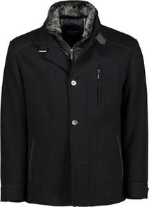 Czarna kurtka Lavard krótka z tkaniny