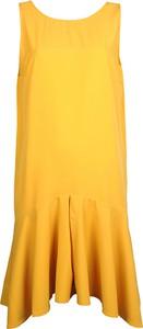 """Żółta sukienka Sugarbird Sukienka """"naima"""" mini bez rękawów z okrągłym dekoltem"""