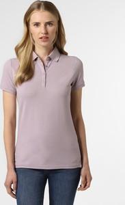 T-shirt Marie Lund z kołnierzykiem z krótkim rękawem w stylu casual