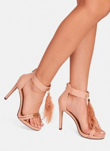 Różowe sandały deezee z klamrami na szpilce