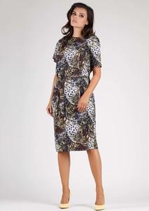 Sukienka Nommo midi z okrągłym dekoltem w stylu casual