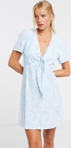Niebieska sukienka Glamorous mini
