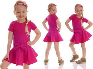 Różowa sukienka dziewczęca Rennwear z bawełny