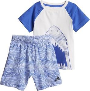 Niebieski komplet dziecięcy Adidas Performance dla chłopców