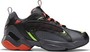 Czarne buty sportowe Reebok ze skóry sznurowane