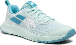 Niebieskie buty sportowe dziecięce Babolat sznurowane dla dziewczynek
